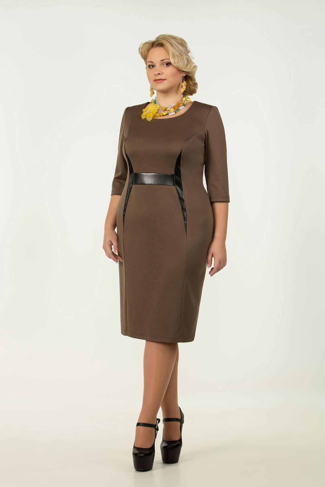 Фасон делового платья для полных женщин