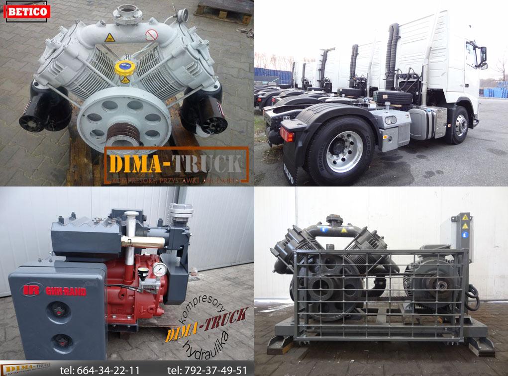 Купить компрессоры для выдува сыпучего материала немецкого GHH Rand, Drum Betico Dima-Truck P Wloch