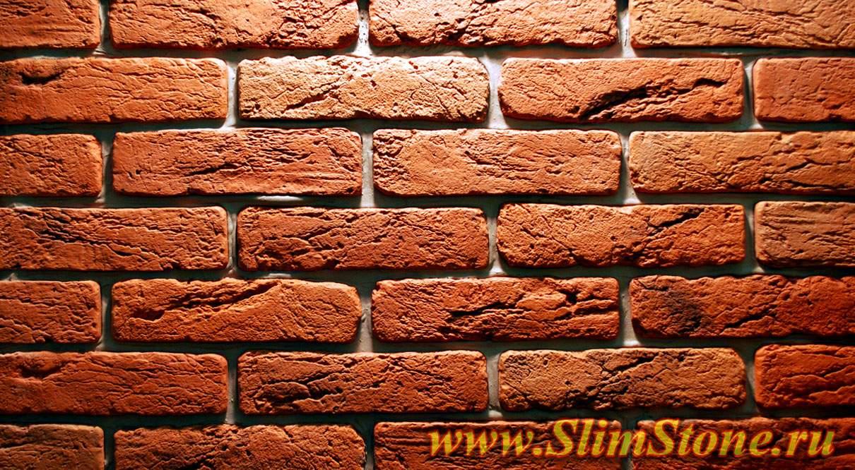Стена имитация кирпича