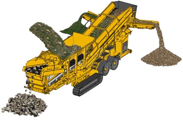 Мобильная дробилка для отделения растений от камня FTM год выпуска 2015