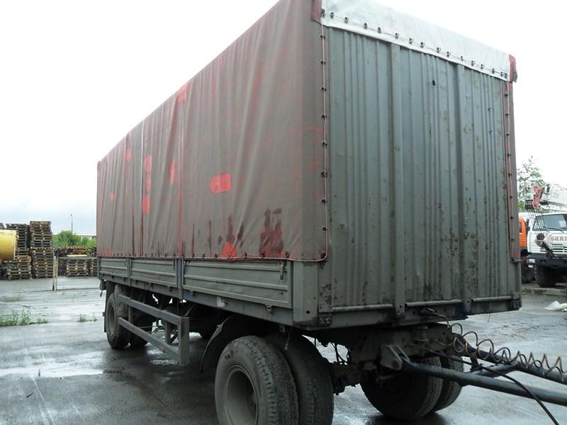 МАЗ 83781  (2008г) прицеп борт-тент 2-х осный (поворотное дышло), г/п 15тн
