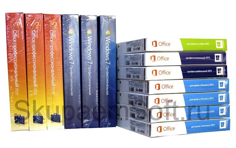 Куплю Windows 7, 8.1, 10 и Microsoft Office 2010, 2013, 2016.