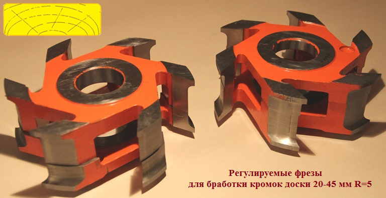 Фрезы для банной, палубной доски (планкен) 20-45 мм R6