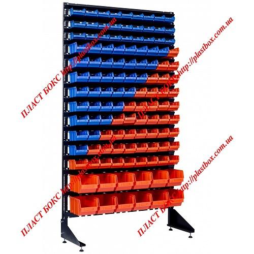 Стеллаж под метизную продукцию стеллаж с пластиковыми контейнерами лотками - 111