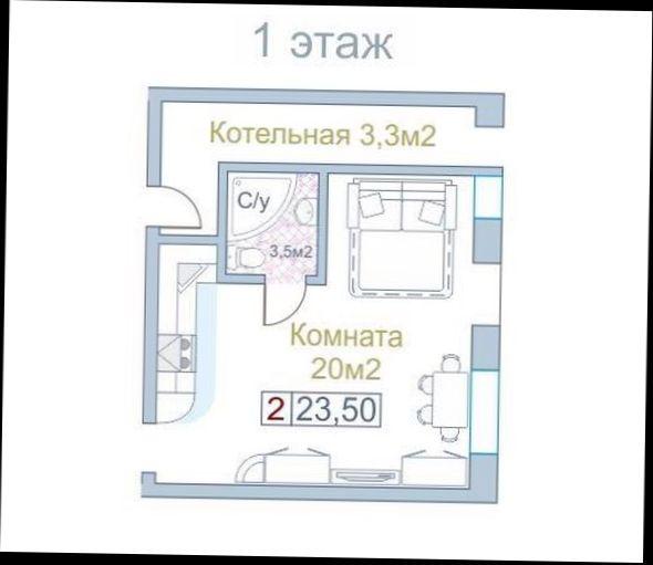 1-к квартира, 20 кв.м, 13 эт.