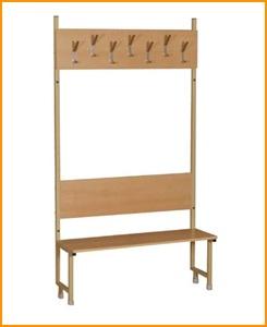 Вешалки для гардеробных комнат, Вешалки настенные, напольные