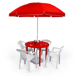 Пластиковые квадратные столы, стулья