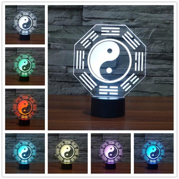 Красочные подарочные 3D лампы для уюта в доме