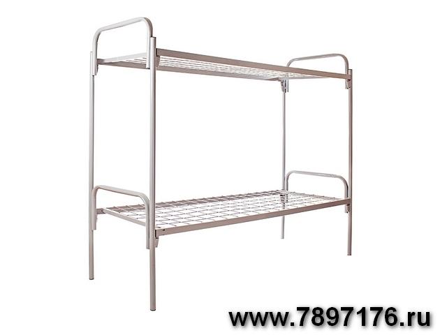 Кровать металлическая двухъярусная и одноярусная для рабочих, строителей
