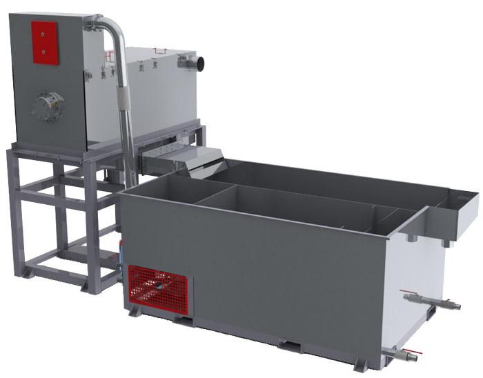 Мойка полимеров с центрифугой  для отмывки тврдых полимерных материалов