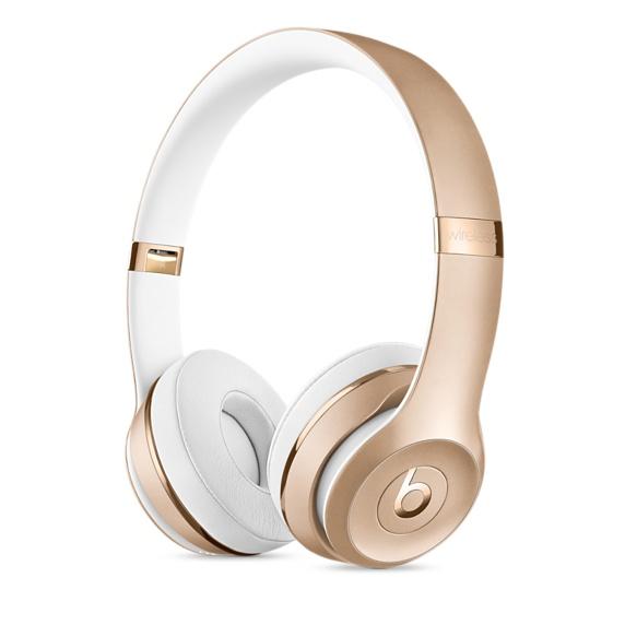Беспроводные накладные наушники Beats Solo3, золотой цвет