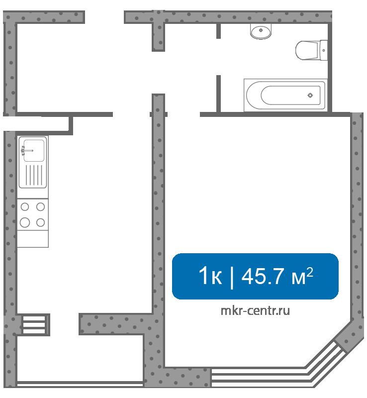 Продам однокомнатную квартиру в мкр Центральный г. Долгопрудный