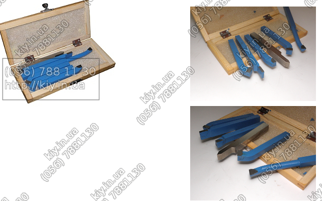 Набор резцов для токарного станка по металлу SK 10x10 из 6шт