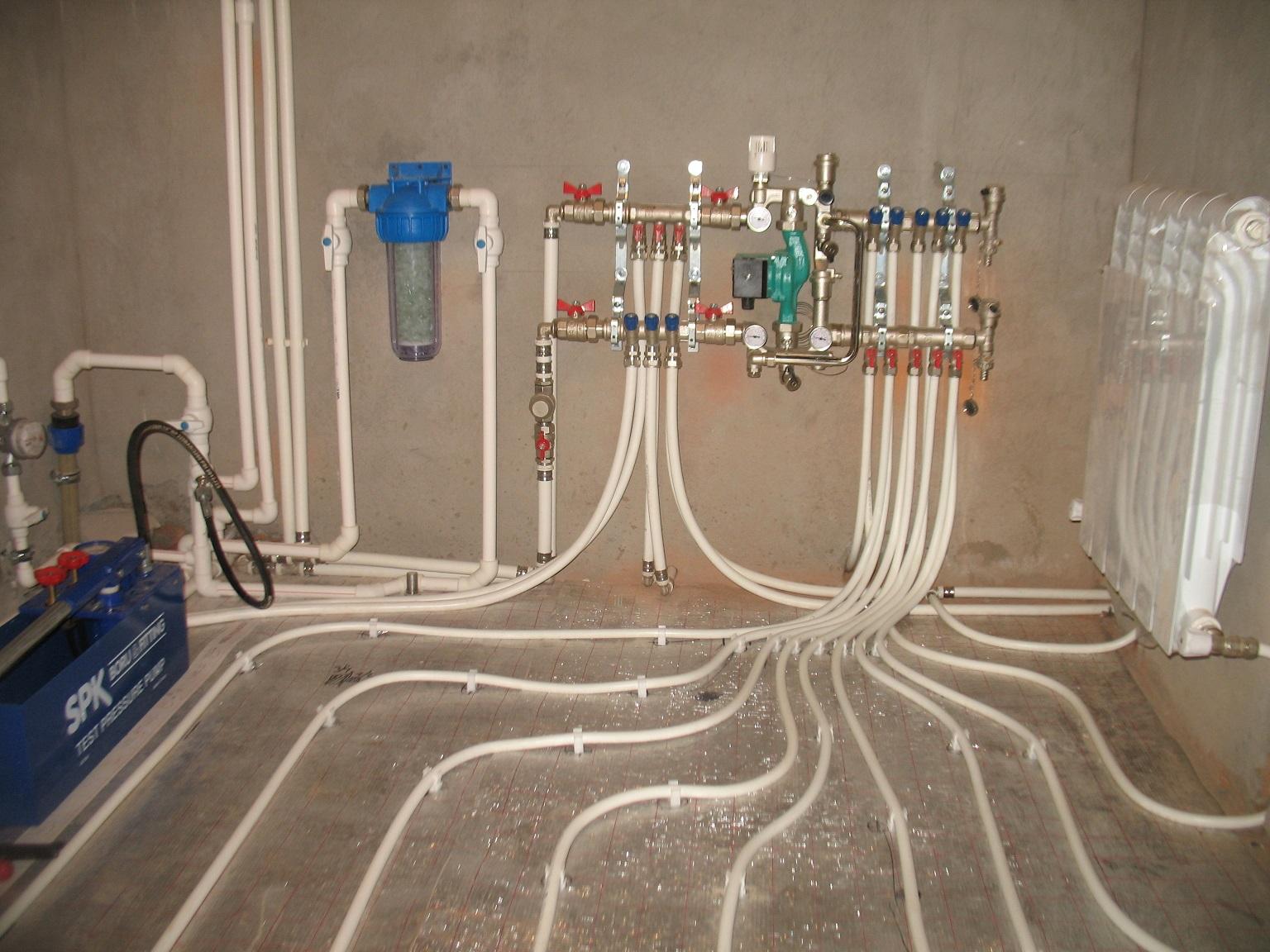Отопление, канализация,водопровод.Теплый пол