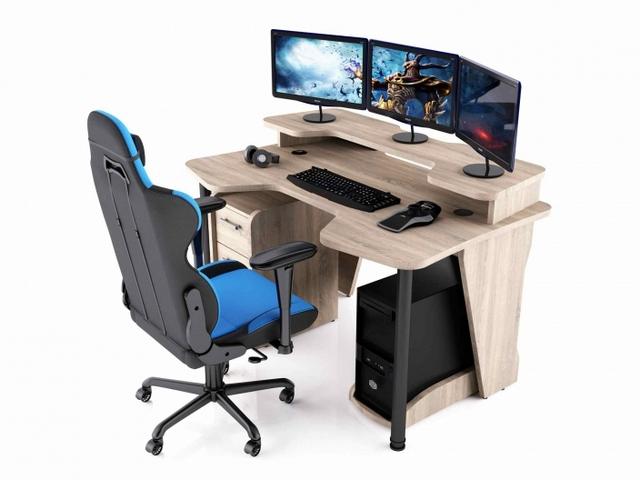 Геймерский стол, игровой компьютерный стол, стол геймера MaDXRacer
