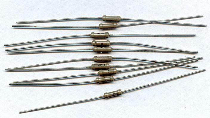 Резисторы 1 ГОм один гигаом 0,125 Вт для конденсаторных микрофонов.