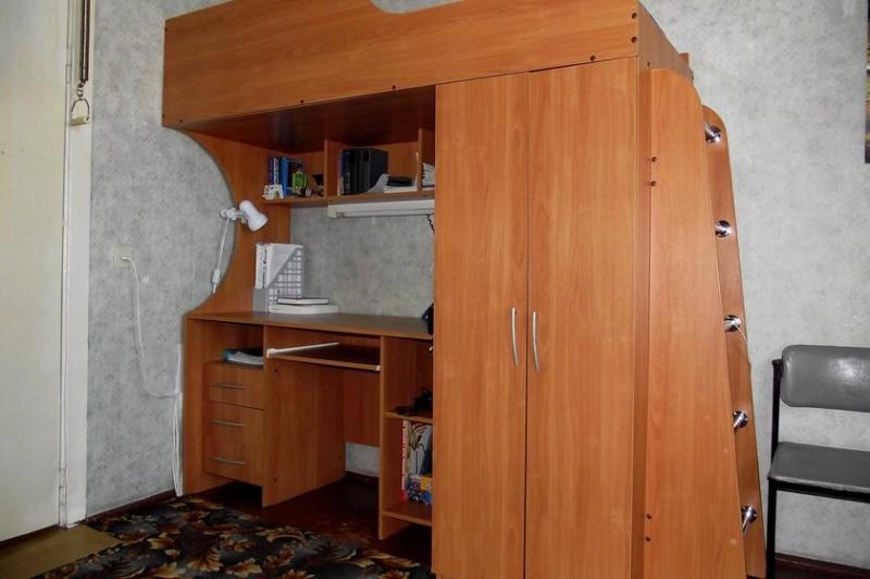 Уголок школьника Кораблик - стол, шкаф, кровать