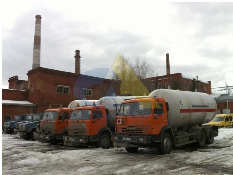 Заправка газгольдера пропаном в Москве