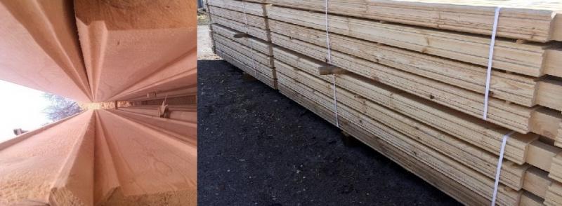 Профилированный брус из кедра, лиственницы