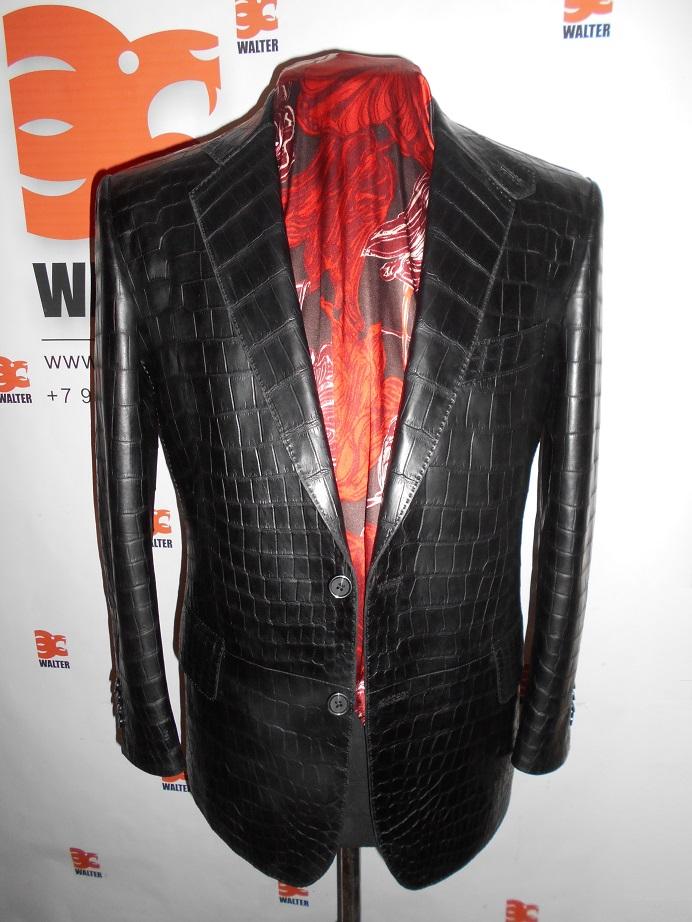 куртка из кожи КРОКОДИЛА на заказ ВАЛЬТЕР