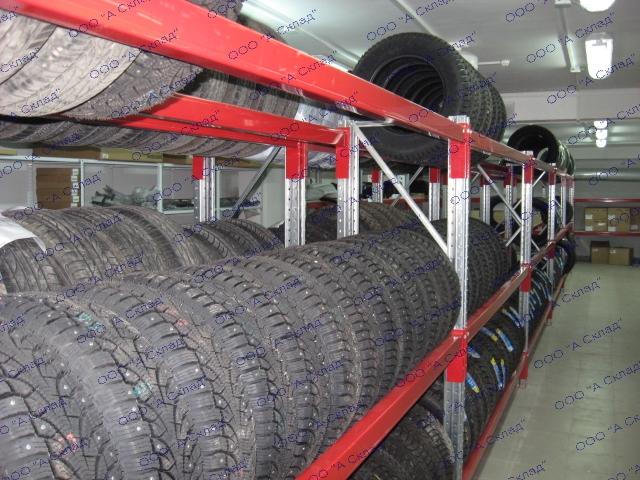 Стеллажи металлические сборные для колес