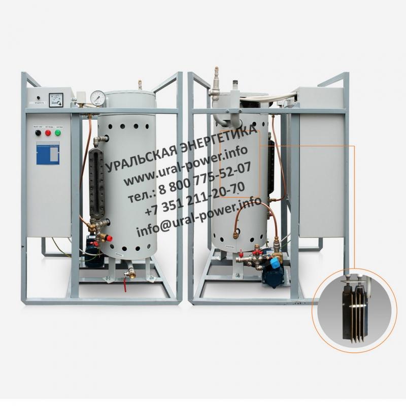 Электрический парогенератор промышленный 100 кгч.