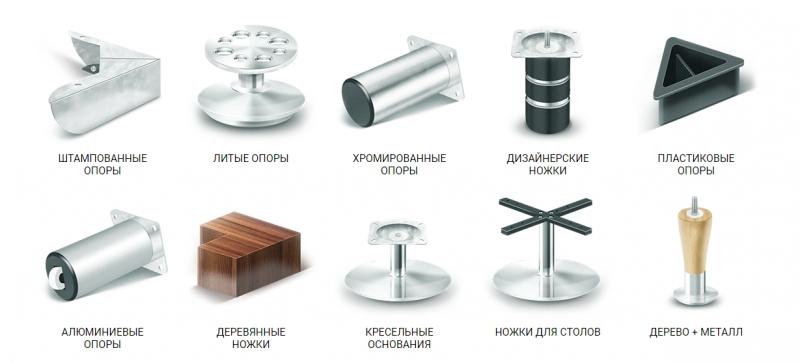 Мебельные опоры, ножки для мебели