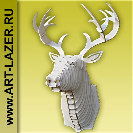 Голова оленя на стену, декор стены, интерьер, ручная работа, подарок, для дома