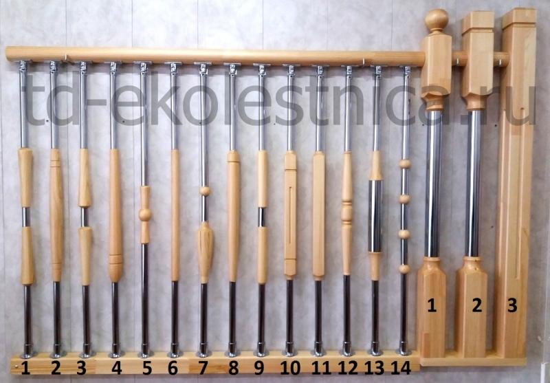 Комбинированные балясины - схема монтажа