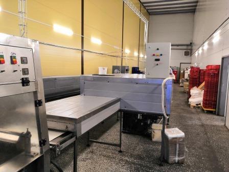 Линия для нарезки и глазирования вафельной продукции