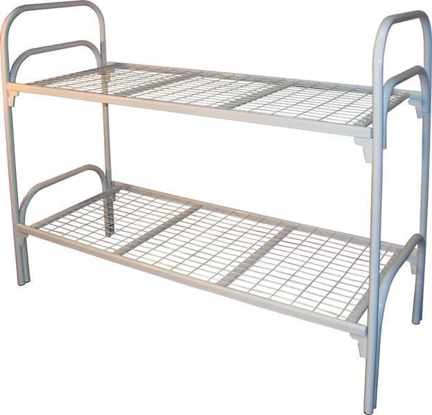 Кровати металлические со сварной сеткой, Кровати одноярусные для больницы