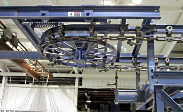 Подвесной конвейер ГН-100р, каретки, цепи тяговые Р1,Р2, редукторы КДВ и другое