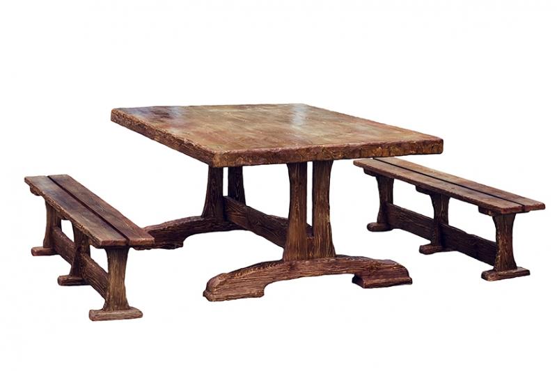 Изготавливаем обеденные столы и скамьи из массива