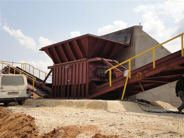 Мобильный погрузочно-складской комплекс Suptrior до 1000 тонн в час.