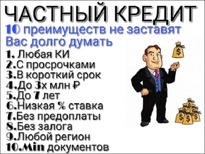 Срочный заем денег с любой кредитной историей. Без предоплат от 100 тыс руб.
