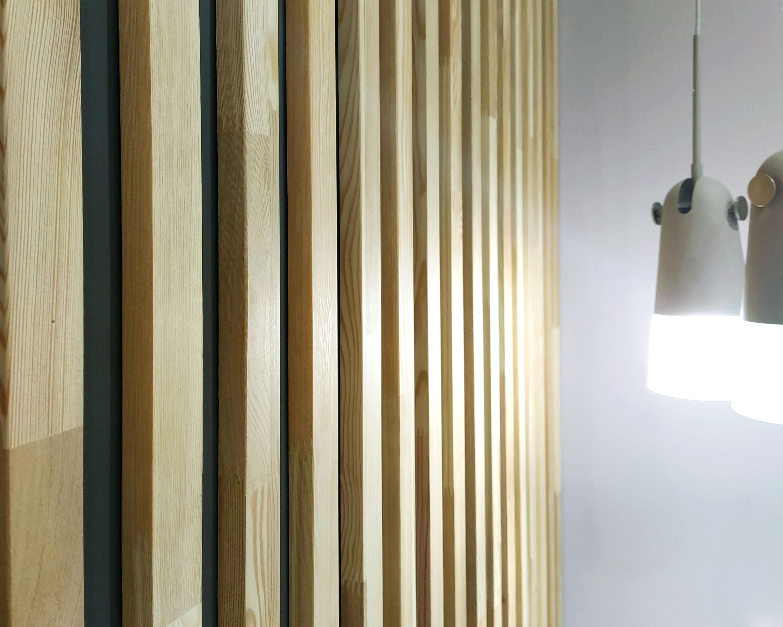 Декоративные интерьерные рейки, баффели из массив