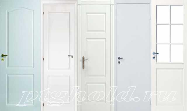 Белые межкомнатные двери, дверные полотна