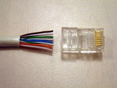 Обжим интернет кабеля, коннекторов RG45, WiFi